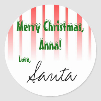 """Customize it! From """"Santa"""" gift tag"""