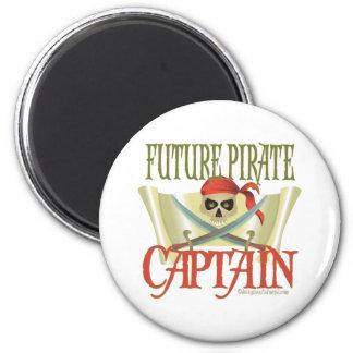 CUSTOMIZE IT! Future Pirate 6 Cm Round Magnet