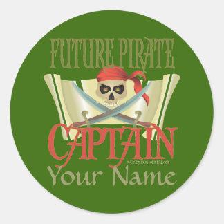 CUSTOMIZE IT! Future Pirate Round Sticker