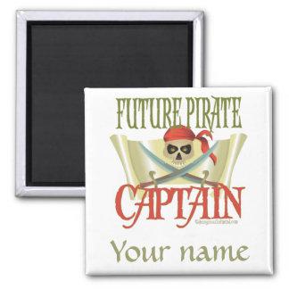 CUSTOMIZE IT! Future Pirate Square Magnet