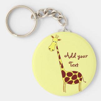 Customize It! Giraffe Keychain