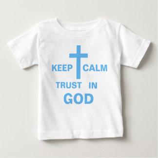 Customize Keep Calm Christian Shirts for Baby Boy