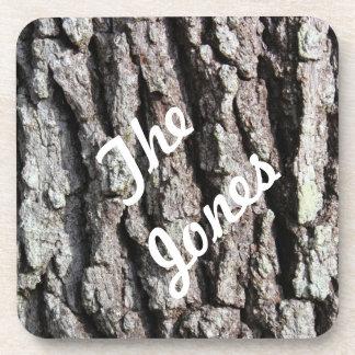 Customize Live Oak Bark photo Drink Coaster