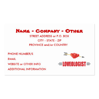 Customize Love Pack Of Standard Business Cards