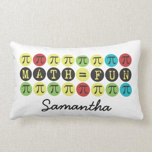 Customize Math equals Fun Mod Pi  - Funny Pi Gift Throw Pillows