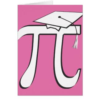 Customize - Math PINK Pi Graduate Greeting Cards