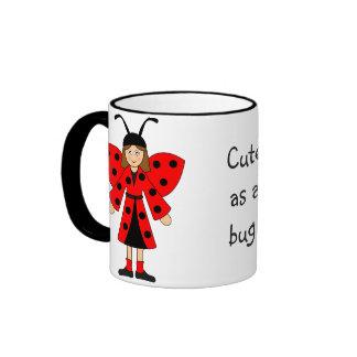 Customize Me -- Bee and Ladybug costumes Coffee Mug