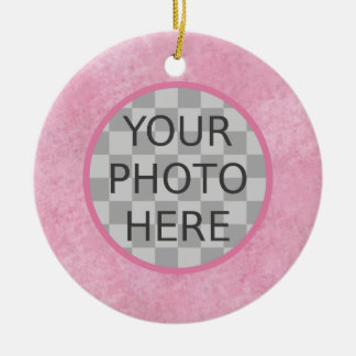Customize Me! Cherry Blossom Pink Christmas Ornament