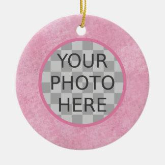 Customize Me! Cherry Blossom Pink Round Ceramic Decoration