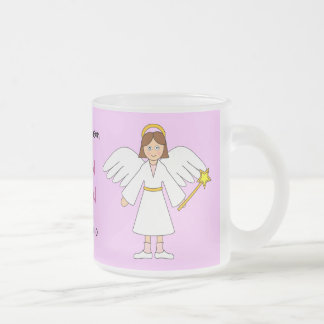 Customize Me -- Children's Nativity Angel Frosted Glass Mug