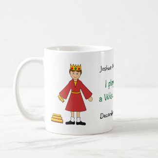 Customize Me -- Children's Nativity King /Wise Man Basic White Mug