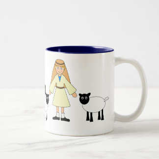 Customize Me -- Children's Nativity Shepherd Boy Two-Tone Coffee Mug