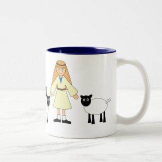 Customize Me -- Children's Nativity Shepherd Boy Two-Tone Mug