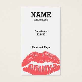 Customize ME! Light Pink Lips Business card