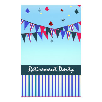 Customize Me! Red White Blue Retirement Political 14 Cm X 21.5 Cm Flyer