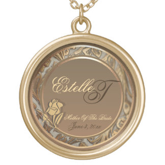 Customize Mother Of Bride Gold Keepsake Necklace