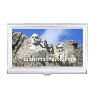 Customize Mount Rushmore National Memorial photo Business Card Holder