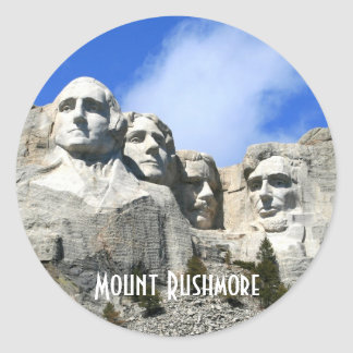 Customize Mount Rushmore National Memorial photo Classic Round Sticker