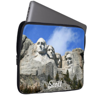 Customize Mount Rushmore National Memorial photo Laptop Sleeves