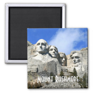 Customize Mount Rushmore National Memorial photo Square Magnet