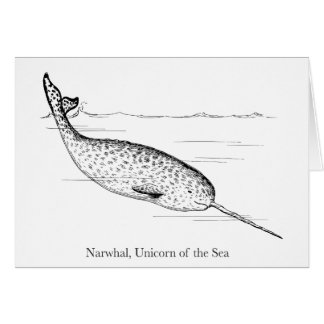 Customize Narwhal Whale Unicorn of the Sea Card