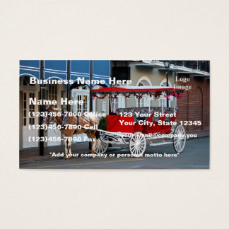 (Customize) New Orleans Carriage Ride Business Card