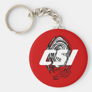 Customize Personalize These Fingerprint Gift Gifts Basic Round Button Key Ring