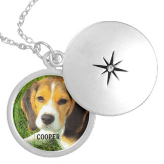customize pet dog photo silver plated necklace