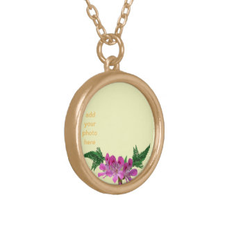 customize photo round pendant necklace