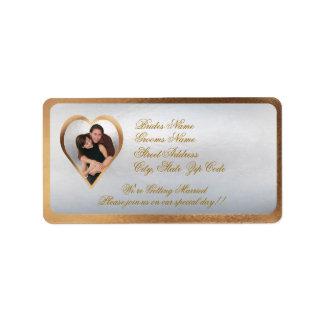 Customize Photo Wedding Invitation Return Address Address Label