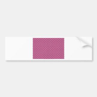 Customize Pink Polka Dot Bumper Sticker