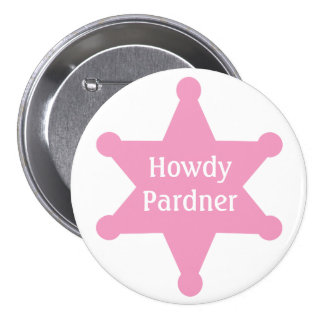 Customize Pink Sheriff Badge Button