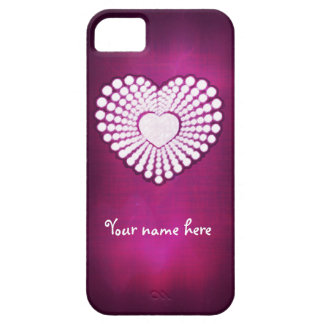 Customize pink superstar heart phone case iPhone 5 covers