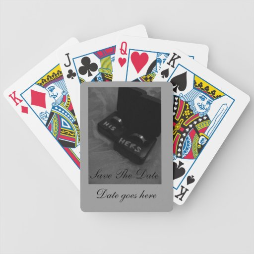 customize playing cards-Wedding Save the date
