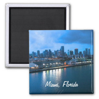 Customize Port of Miami photo Square Magnet