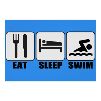 Customize ProdEat Sleep Swim Gear Poster