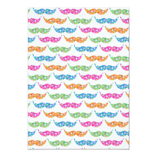 Customize Produccolourful moustache circles pattet Card