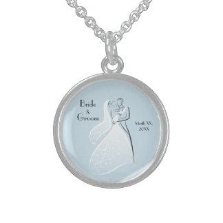 Customize Product Blue Retro Wedding Dancers Coord Custom Jewelry