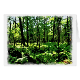 "Customize Product""Ferny Forest"" Card"