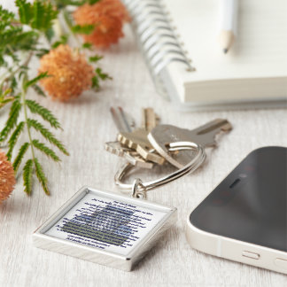 Customize Product Silver-Colored Square Key Ring