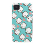 Customize ProductCute Marshmallow couple Case-Mate iPhone 4 Case