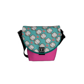 Customize ProductCute Marshmallow couple Messenger Bags