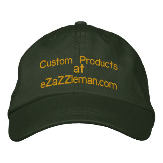 CUSTOMIZE PRODUCTS @ eZaZZleMan.com Embroidered Baseball Caps