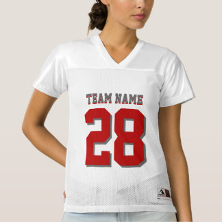 Customize Red and Gray Football Sports Jersey