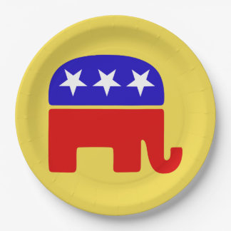 Customize Republican Elephant Party Plate