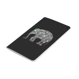 Customize Sparkly colourful silver mosaic Elephant Journal