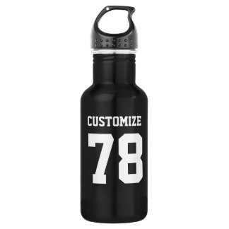 Customize Sports Design Steel Metallic Black 532 Ml Water Bottle