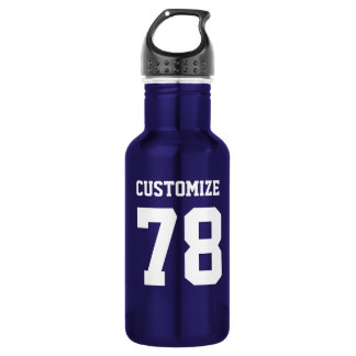 Customize Sports Design Steel Metallic Blue 532 Ml Water Bottle