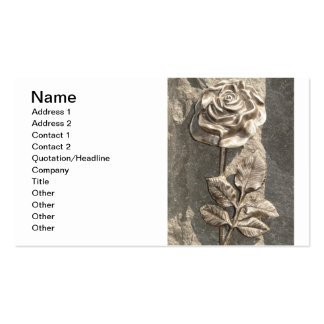 Customize Stone Rose Business Card Template