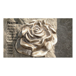 Customize Stone Rose Business Cards
